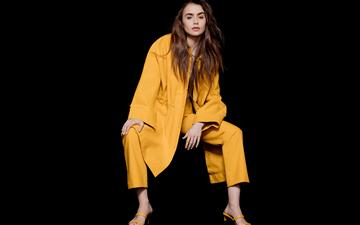 lily collins the observer photoshoot 12k All Mac wallpaper