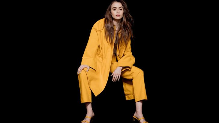 lily collins the observer photoshoot 12k Mac Wallpaper