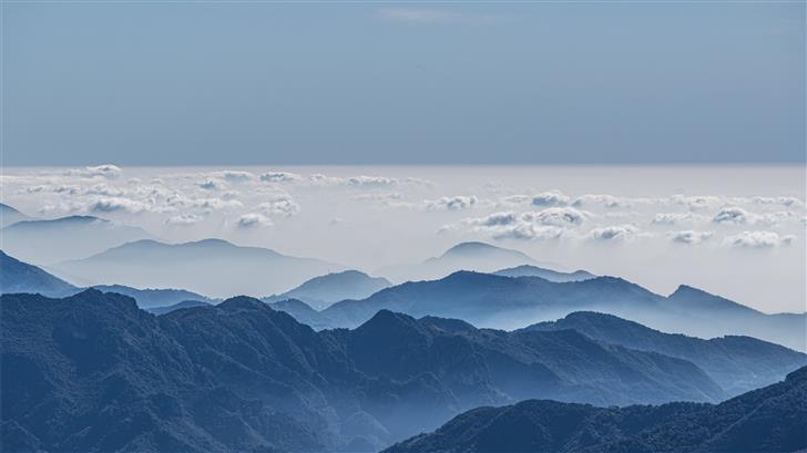 mountain with fog Mac Wallpaper