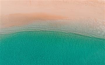 aerial photo of beach All Mac wallpaper
