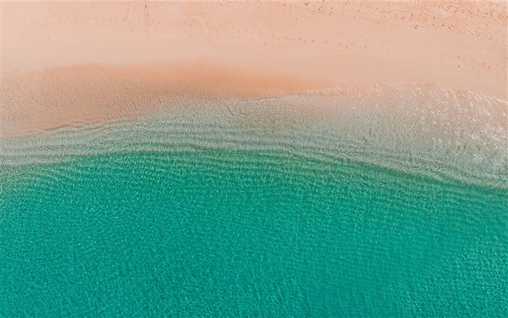 aerial photo of beach Mac Wallpaper