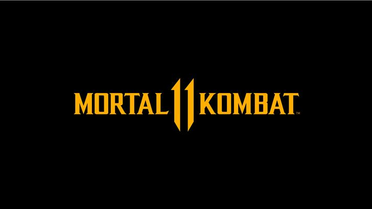 mortal kombat 11 logo dark black 8k Mac Wallpaper