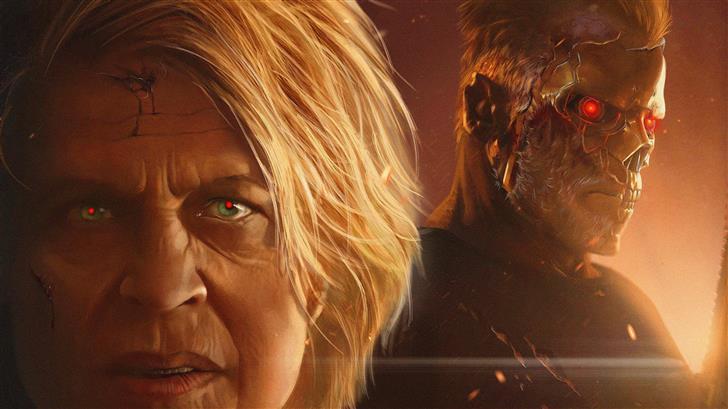 2019 terminator dark fate 5k art Mac Wallpaper