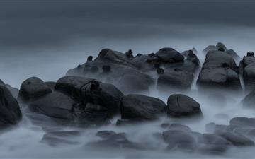 gray rocks iMac wallpaper