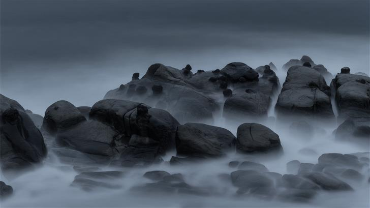 gray rocks Mac Wallpaper