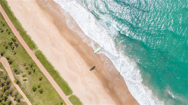 aerial view of seashore at daytime Mac Wallpaper