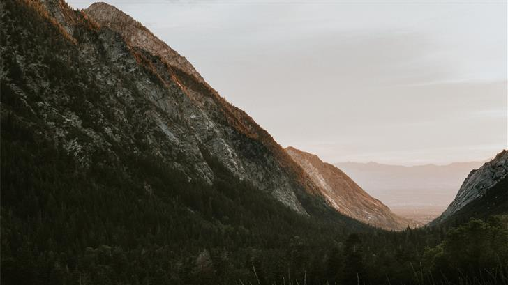mountain during daytime Mac Wallpaper