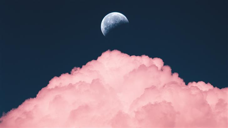 aesthetic purple color of moon Mac Wallpaper