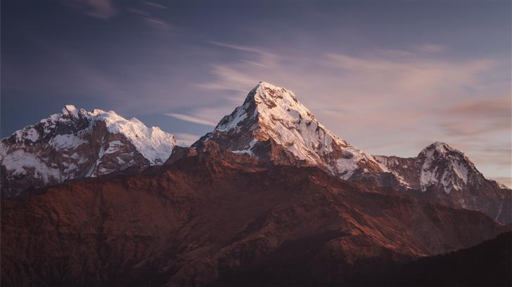three mountains covered with snow Mac Wallpaper