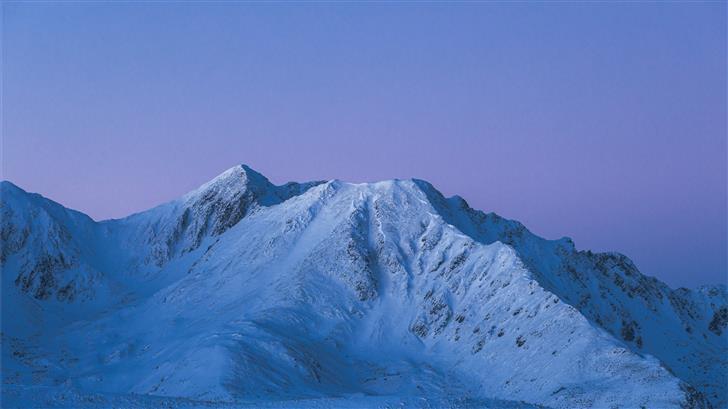 birds eye photography of snow covered mountain Mac Wallpaper