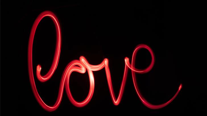 Neon Love Mac Wallpaper