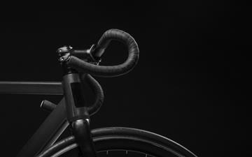 black road bicycle handle with black background All Mac wallpaper