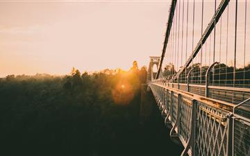 bridge during golden hour MacBook Air wallpaper
