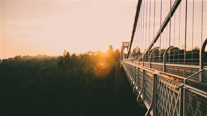 bridge during golden hour Mac Wallpaper