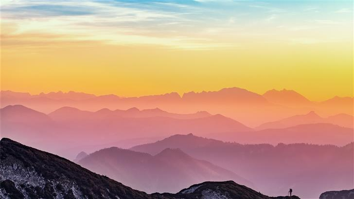 landscape photography of mountains Mac Wallpaper