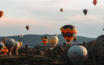 assorted color hot air baloons All Mac wallpaper