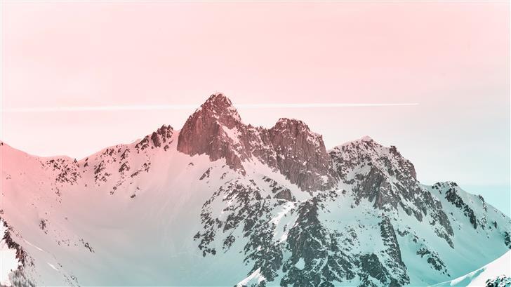 white snowcovered mountain Mac Wallpaper