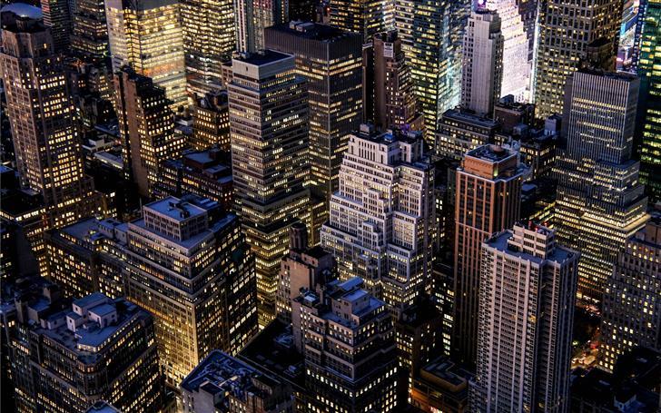 top view of city building Mac Wallpaper