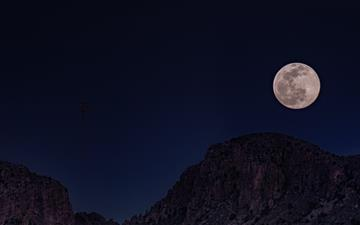 full moon over the mountain MacBook Air wallpaper