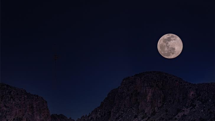 full moon over the mountain Mac Wallpaper