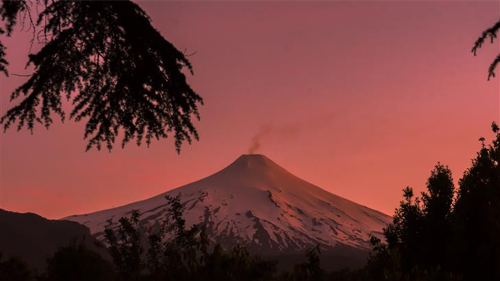 mountain covered with snow during golden hour Mac Wallpaper
