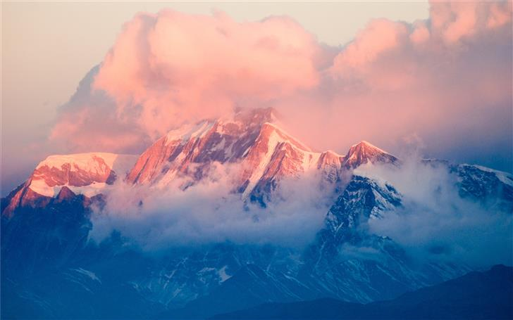 mountain covered with snow at daytime Mac Wallpaper