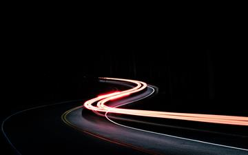 time lapse car running on road MacBook Air wallpaper