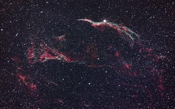 red and black galaxy illustration All Mac wallpaper
