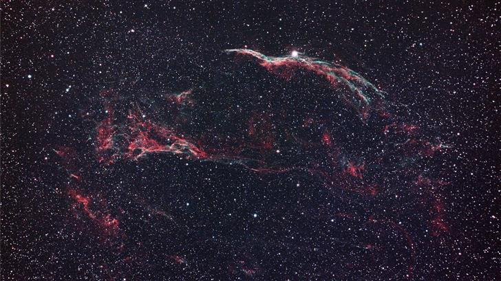 red and black galaxy illustration Mac Wallpaper