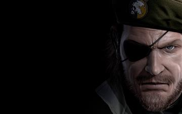 Big boss Metal Gear Solid eye patch Mac wallpaper