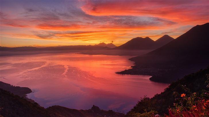 sunrise morning landscape 5k Mac Wallpaper