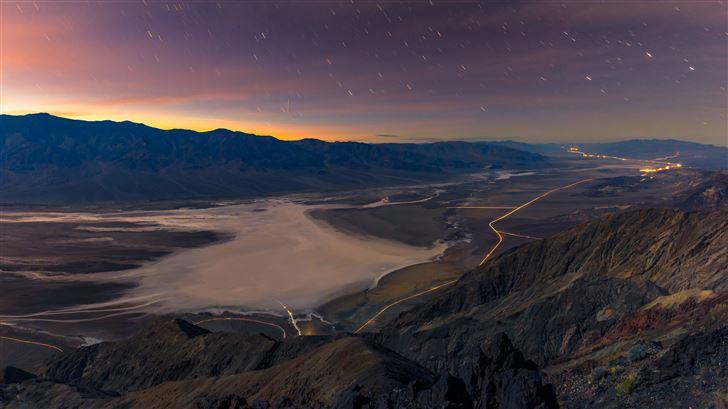 raining stars over the valley of death 5k Mac Wallpaper