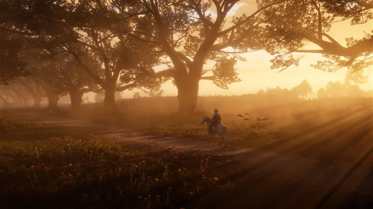 red dead redemption 2 the path 5k Mac Wallpaper