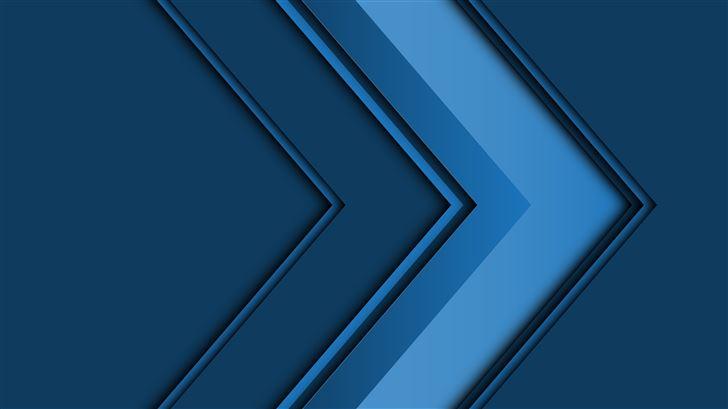 abstract arrow 3d blue 5k Mac Wallpaper