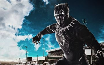 black panther captain america civil war 8k MacBook Pro wallpaper