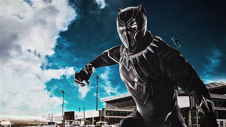 black panther captain america civil war 8k Mac Wallpaper