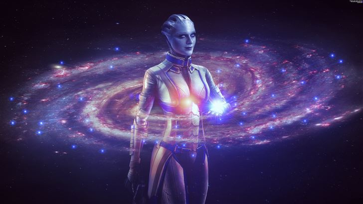 mass effect liara 8k Mac Wallpaper