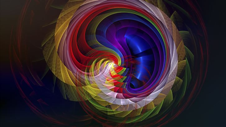 fractal apopysis swirl digital art 8k Mac Wallpaper