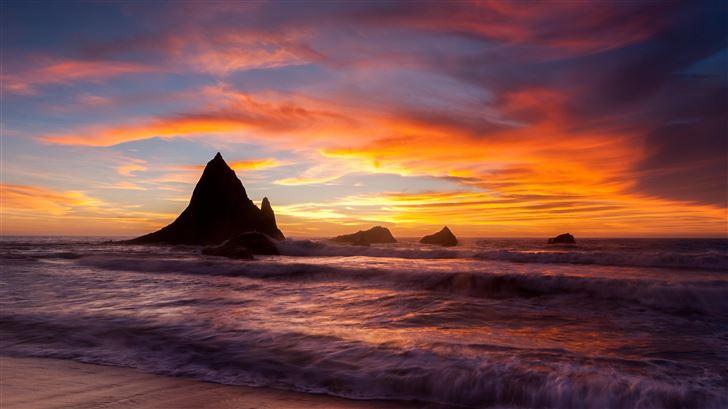 martins beach sunset 5k Mac Wallpaper