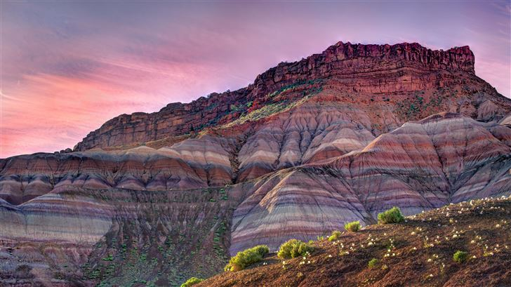 sunrise at the ghost town of old paria Mac Wallpaper