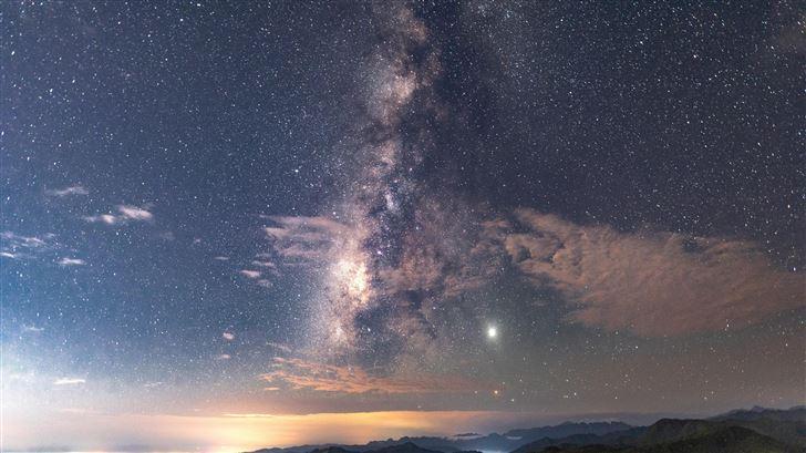 stars in sky 8k Mac Wallpaper