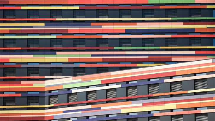 office building colorful architect Mac Wallpaper