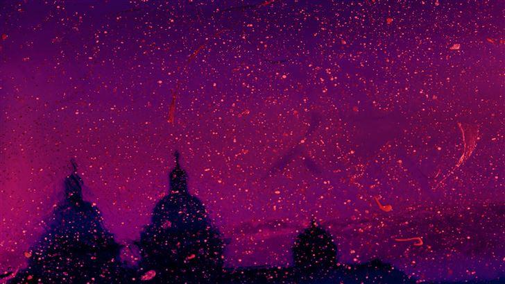 neon skyline abstract 5k Mac Wallpaper