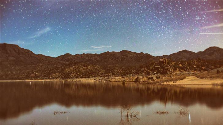sky full of stars nature landscape 5k Mac Wallpaper