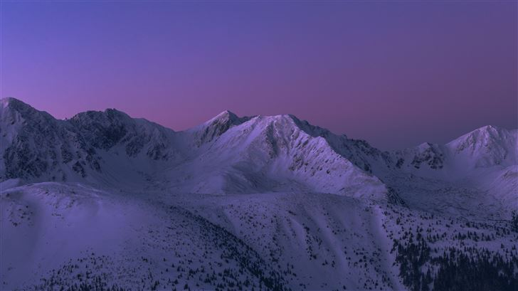 snow covered mountains 4k 5k Mac Wallpaper