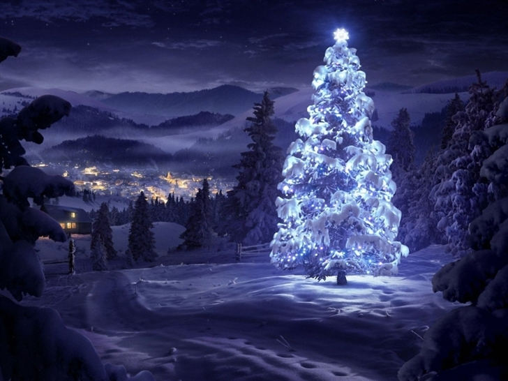 Christmas Tree Greeting Cards Mac Wallpaper Download