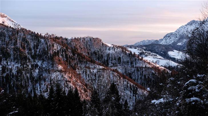 brown white mountains 5k Mac Wallpaper