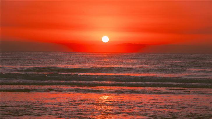 sunrise in australia ocean 5k Mac Wallpaper