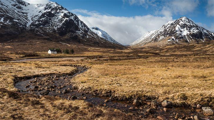 mountains stones scotland grasslands ben nevis 8k Mac Wallpaper