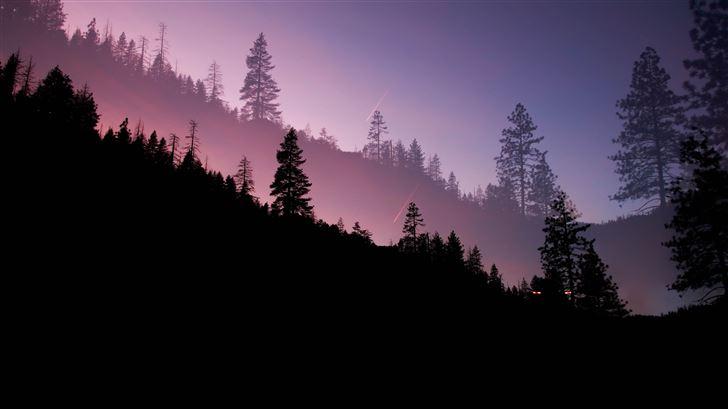 yosemite valley evening 5k Mac Wallpaper